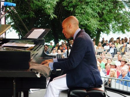 Aaron Diehl performs at The 32nd Annual Detroit Jazz Festival
